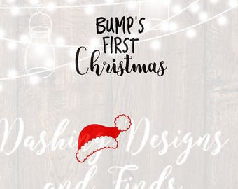 DIGITAL DOWNLOAD svg png bumps first christmas maternity shirt pregnancy announcement merry christmas winter holiday silhouette cricut