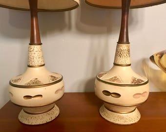 Pair of Mid Century Modern Petite Lamps