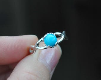 Sterling Silver Sleeping Beauty Turquoise Ring