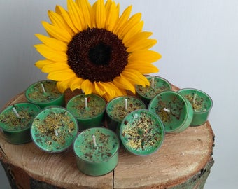 Blowing On Dandelion - Fortuna's Cornucopia Set of 7 Tea Lights, Prosperity & Abundance, Money Drawing Spell Candles