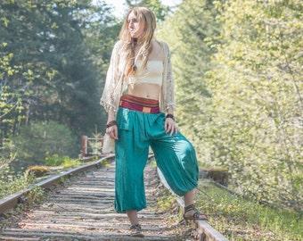 Harem Pants sizes 4-16, hippie, boho pants, yoga pants, gypsy, extra wide leg pants, Jasmine pants, Embroidered, bohemian clothes, trousers