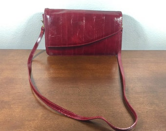Red Eel Skin Purse, Bag, Shoulder Bag