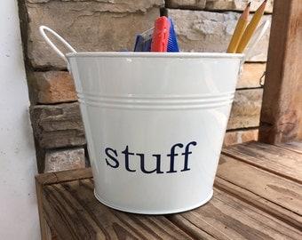 Home Storage Bucket; Personalized Bucket; Storage bucket; Junk bucket