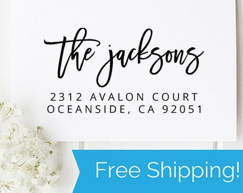Custom Return Address Stamp, Self Ink Return Address Stamp, Personalized Address Stamp, Self Ink Custom Address Stamp  (D239)