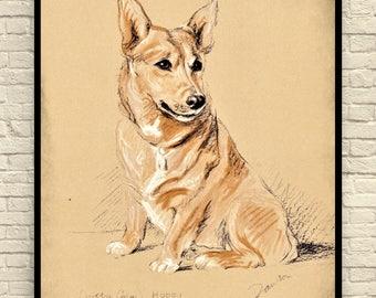 Lucy Dawson Dog Print, Vintage Dog Print, Corgi Dog Print, Antique  Dog Prints, Dog Illustration, 1930's Lucy Dawson Dogs, Dog Wall Art