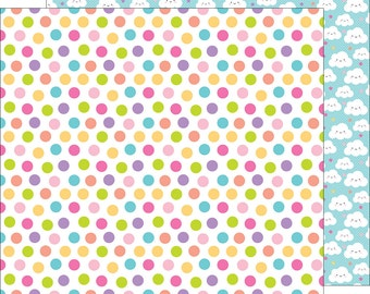 Princess polka dots 12 x 12 double sided cardstock  fairy tales