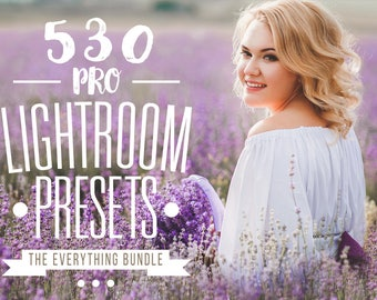 Pro Adobe Lightroom Presets Bundle - Lightroom Presets for Adobe Lightroom 4, Lightroom 5, Lightroom 6 and Lightroom CC