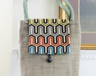 Fun and Colorful Novelty Tote with Wide Flap!!!