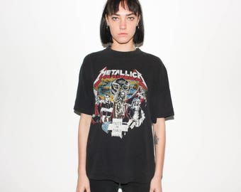 90s Metallica Lives On Cliff Burton Memorial Concert T Shirt