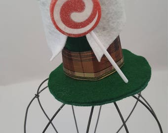 Lollipop Guild Tiny Top Hat, Lollipop Guild Hat, Munchkinland Hat, Wizard of Oz Hat, Lollipop Guild Costume, Wizard of Oz Costume, Oz Favor