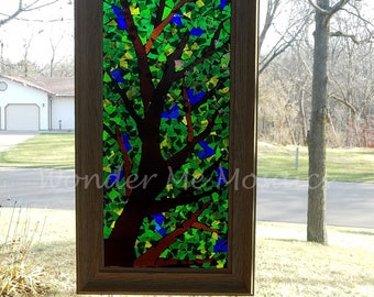 Stained Glass Mosaic - Canopy of Leaves