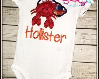 Personalized Crab Shirt/Bodysuit