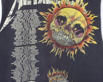 METALLICA summer 94 tour shirt - vintage 1994 - live - tour dates - pushead