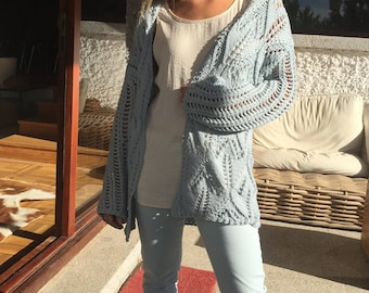 Hand Knitted Cotton Cardigan