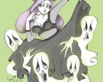 Paranormal Couture by Dirty Teacup Designs Pop Surrealism Pastel Goth Fine Art Print