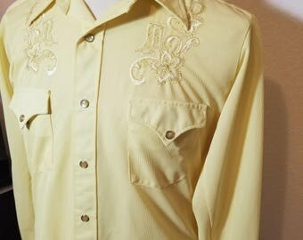 FREE  SHIPPING  H Bar C  Embroidered Western  Shirt