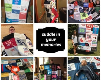 T-shirt Blanket - Memory Blanket - Custom T-shirt Blanket - T Shirt Quilt -Tshirt Blanket - Graduation Gift - Gift for him - Gift for her