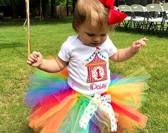 1st Birthday Circus Tutu Outfit, Carnival Tutu Outfit, Circus Shirt, Carnival Shirt