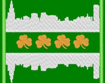 Chicago Irish flag embroidery design pattern