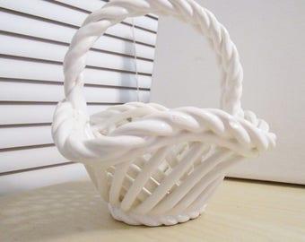Beautiful Vintage Lattice Weaved Basket