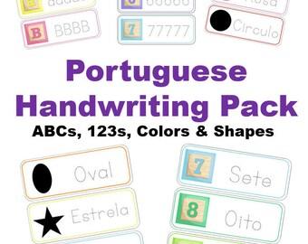 Portuguese Handwriting Pack