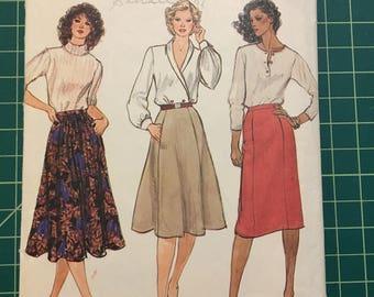 Vintage 1980s Sewing Pattern - Vogue 7896 - Skirt