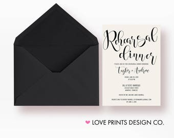 Rehearsal Dinner Invitation, Wedding Rehearsal Invitation, Rehearsal Dinner Invites, Rehearsal Dinner Invitation Template, Welcome Dinner