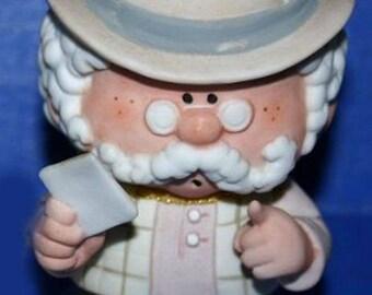 Vintage Fabrizio Bumpkins Mr. Bo Old Man George Good Figurine 1980s