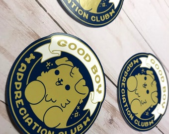 Good Boy Appreciation Club Dog Stickers