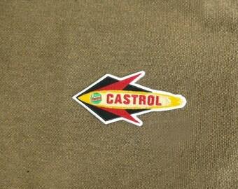 Vintage Style Castrol Oil 1950's Patch Badge Vespa Lambretta Auto