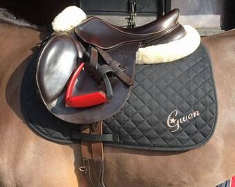 Personalised Saddle Pad/Personalised Saddle Cloth/Personalised Numnah/Personalised horse wear/Horse Gift/Horse Lover Gift/Horse riding