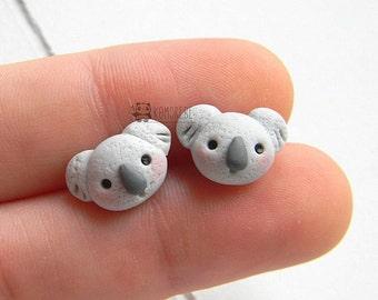 Koala stud earrings, Orecchini perno