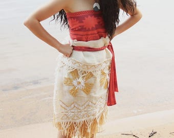 Moana from Disney's Moana Costume/Cosplay for Adult or Child
