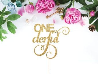 ONEderful Cake Topper, First Birthday Cake Topper, Smash Cake Topper, Miss One Derful,  I Am One, Birthday Decor, Mr One Derful,