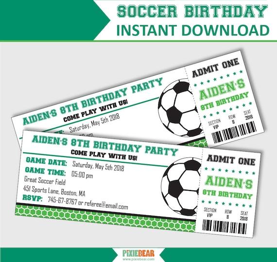 Soccer Party Invitation Soccer Birthday Invitation Soccer