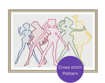 Sailor Moon Cross Stitch Pattern