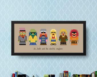 Muppet Show Cross Stitch Pattern | Dr. Teeth & The Electric Mayhem Cross Stitch Charts | Animal Cross Stitch | Jim Henson | Muppets Xstitch