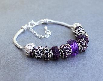 February Birthstone Bracelet, Amethyst Bracelet, Purple Birthstone Bracelet, February Bracelet, February Amethyst Bracelet, Purple Bracelet