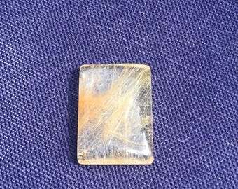 Gold Rutilated Quartz Rectangle 14mm x 10mm