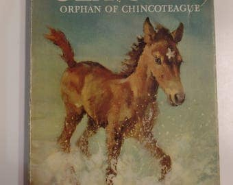 Sea Star Orphan of the Chincoteague by Marguerite Henry Rand McNally 1949 Vintage Hardcover Kids Book