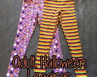Adult & Plus Size Unique Halloween Leggings! Availble in Plus Sizes and Extended Lengths!