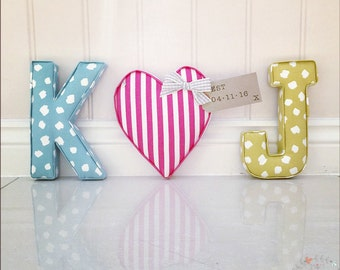 Fabric Letters | Lilymae Designs | Nursery | Home | Bedroom | Childrens | Handmade | Birthday | New baby gift | Baby Shower | Made in Englan