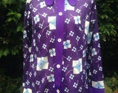 Vintage 1970s purple blou...
