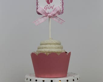 It's a Girl Cupcake Topper -12