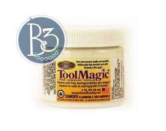 Tool Magic flexible coating for jewelry tools - 2 oz jar - removable tool tip coating for pliers - prevent scratches on wire and jump rings