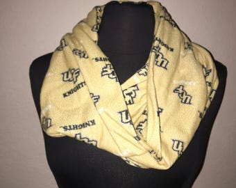 Repurposed/Upcycled UCF Knights Infinity Scarf