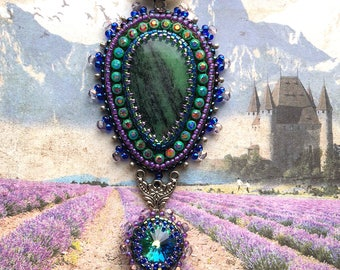 Colorful Zoisite pendant