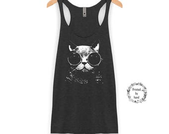 Cat Tank Top | Cat Shirt - Cat - Funny Cat Shirt - Racerback Tank Top
