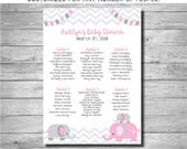 Baby Shower Seating Chart, Chevron, Any theme, DIGITAL OR PRINTED