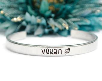 Vegan Bracelet | Vegan Jewelry | Animal Rights | Plant Based | Gift For Animal Lover | Vegan Gift